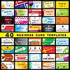 ID 3275095 | 40 Visitenkarten | Stock Vektorgrafik | CLIPARTO