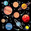 Set Planeten Symbole