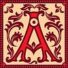 vintage Buchstaben A