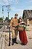 ID 3158906 | Para dama i żołnierz w stylu retro | Foto stockowe wysokiej rozdzielczości | KLIPARTO