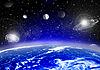 Ziemia w przestrzeni | Stock Illustration