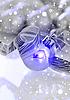 Weihnachtskugel und Schneeflocken | Stock Illustration