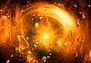 Przestrzeń wir fantazji i asteroidy | Stock Illustration