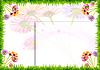 Blumen und Gras - Rahmen | Stock Illustration