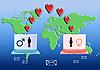ID 3117421 | Internet Liebes-Konzept | Illustration mit hoher Auflösung | CLIPARTO