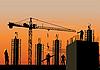 Silhouette der Baustelle