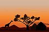 ID 3113747 | Sunset in Africa | Stockowa ilustracja wysokiej rozdzielczości | KLIPARTO