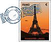 ID 3114102 | Paris - Briefmarke | Stock Vektorgrafik | CLIPARTO