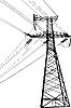 ID 3114210 | Linia wysokiego napięcia elektrycznego | Klipart wektorowy | KLIPARTO