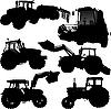 Traktor-Silhouetten