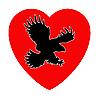 des gefräßigen Vogel innerlich Herzen