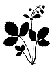 ID 3115797 | Silhouette der Pflanze der Erdbeere | Stock Vektorgrafik | CLIPARTO