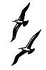 Силуэты морских птиц | Векторный клипарт