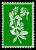Silhouette der Anlage auf Briefmarken
