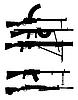 Silhouetten - Maschinengewehr