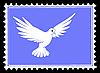 Zeichnung Taube auf Briefmarken
