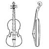 Контуры скрипки | Векторный клипарт