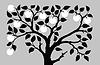 Silhouette zu aple Bäume