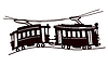 Vector clipart: tram silhouette
