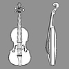 ID 3221258 | 바이올린 실루엣 | 벡터 클립 아트 | CLIPARTO