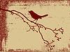 Vogel Silhouette auf grunge Hintergrund,