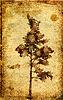 ID 3231714 | Grunge-Hintergrund mit einem Baum | Stock Vektorgrafik | CLIPARTO