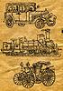 Zeichnungen auf altem Papier