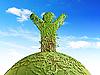 Symbolischer Baum als ensch auf dem Planet | Stock Illustration