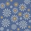 Nahtloser Hintergrund von Schneeflocken
