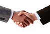 Hand shake between businessmans | Stock Foto