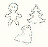 Weihnachtsfiguren von Girlanden