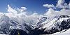 ID 3117669 | Панорама Кавказа. Склон с лыжником | Фото большого размера | CLIPARTO