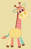 Векторный клипарт: Аппликация жираф