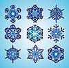 Płatki śniegu | Stock Vector Graphics