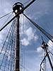 老船的桅杆 | 免版税照片