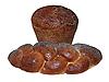 黑麦面包和面包,罂粟籽 | 免版税照片