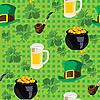 Hintergrund mit den Symbolen von St. Patrick Day