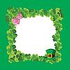 绿色框的三叶草 | 向量插图