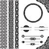 ID 3149390 | Dekorative Ornamente im keltischen Stil | Stock Vektorgrafik | CLIPARTO