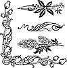 Jugendstil-Ornamente und Ecken