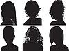 Silhouetten von Frauen Köpfe