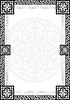 Rahmen mit arabischen geometrischen Mustern