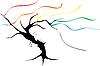 Радужное дерево | Векторный клипарт