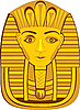 goldene Pharao-Maske