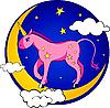 ID 3127334 | Mały jednorożec na Księżycu | Klipart wektorowy | KLIPARTO