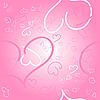 Бесшовный розовый фон с сердечками | Векторный клипарт