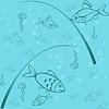 Бесшовные фон - рыбалка | Векторный клипарт
