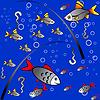 Nahtlose bunten Hintergrund der Fischerei