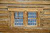 Fragment eines alten Holzhauses | Stock Foto