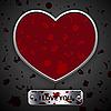 blutige Valentinstagkarte mit Herz